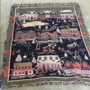 VTG Folk Art Throw Blanket